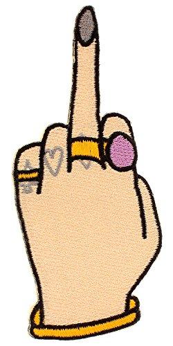 Toppa termoadesiva Middle Finger