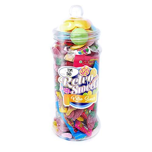 ar mit 2,5l Pick'n'Mix Süßigkeiten - Beinhaltet 6 verschiedene Themen-Sticker für Geburtstage, Weihnachten, Wichteln, Dankeschön-Geschenke, Überraschungen und Geschenke! ()