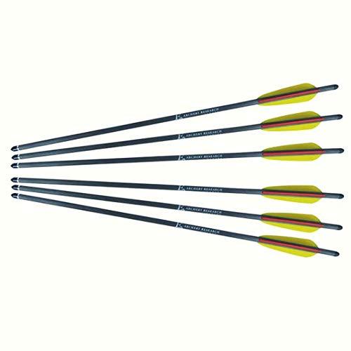 Ek Archery - Lot de 6 Traits en Carbone pour arbalètes 200 lbs Maxi - Livrés complets prêts à Tirer - Longueur 20''