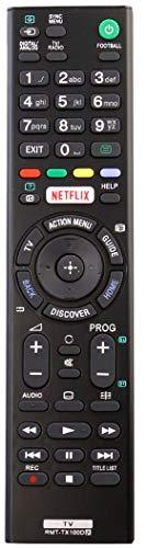ALLIMITY RMT-TX100D Fernbedienung Ersetzt für Sony TV KDL-43W805C KDL-50W755C KDL-50W756C KDL-50W805C KDL55W755C KDL-55W756C KDL-55W805C KDL-65W855C KDL-75W855C KDL-43W950D KD-49X8005C