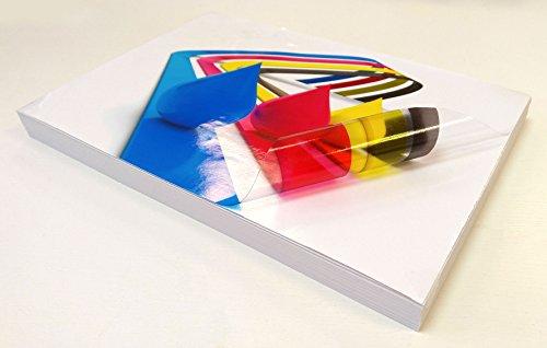 10fogli A4trasparente/trasparente in vinile lucido autoadesivo adesivo qualità stampabile a getto d' inchiostro