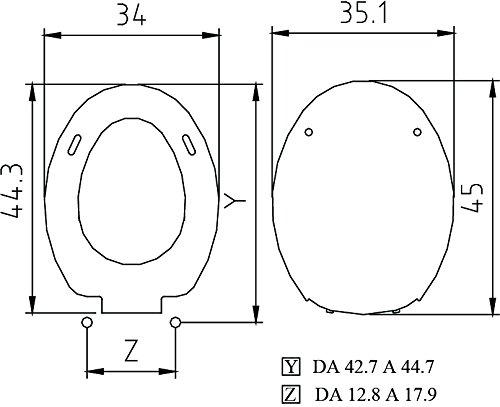 Zoom IMG-2 saniplast tango sedile wc resina