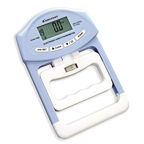 Constant Digitales Messgerät für Griffstärke 90kg Digitales Hand-Dynamometer automatische Messung, blau