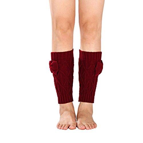 Amorar Damen Stiefel Socken Leg Warmer Beinstulpen häkeln Stiefelmanschetten Top Cover Kurze Beinlinge Strümpfe Beinwärmer Boot Abdeckung mit Bogen,EINWEG Verpackung -