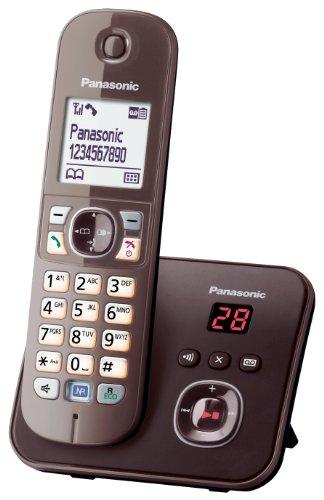 Panasonic KX-TG6821GA DECT-Schnurlostelefon (4,6 cm (1,8 Zoll) Grafik-Display) mit Anrufbeantworter mocca-braun - 2