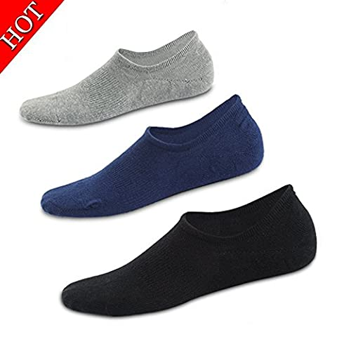 Ueither Mens Cotton Low Cut No Show Casual Ankle Socks