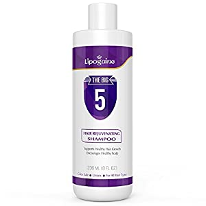 Lipogaine Hair Growth Stimulating All Natural Shampoo for Hair Thinning & Breakage (purple)