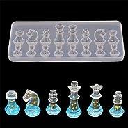 International chess shape silicone mold diy epoxy resin mold pendant mold - White