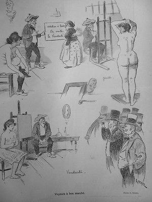 1892-cf10-dessin-roedel-voyeur-bon-marche-modele-nudite-visite-atelier-peintre
