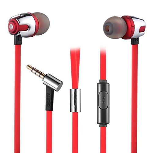 ultrics Noise Cancelling In-Ear-Kopfhörer mit Mikrofon, Audio Stereo Bass Lautstärkeregler Kopfhörer