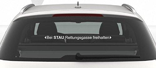 """Preisvergleich Produktbild Aufkleber """"Bei STAU Rettungsgasse freihalten"""" Feuerwehr,  DRK,  Polizei,  THW 60 cm"""