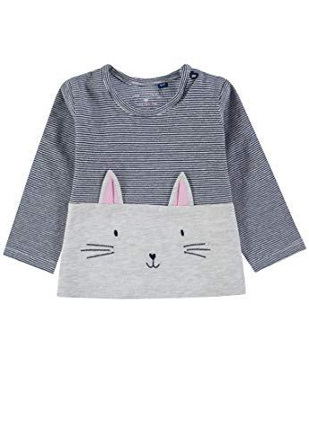 TOM TAILOR für Mädchen T-Shirts/Tops Sweatshirt mit Katzen-Motiv lunar Rock Melange|beige, 86