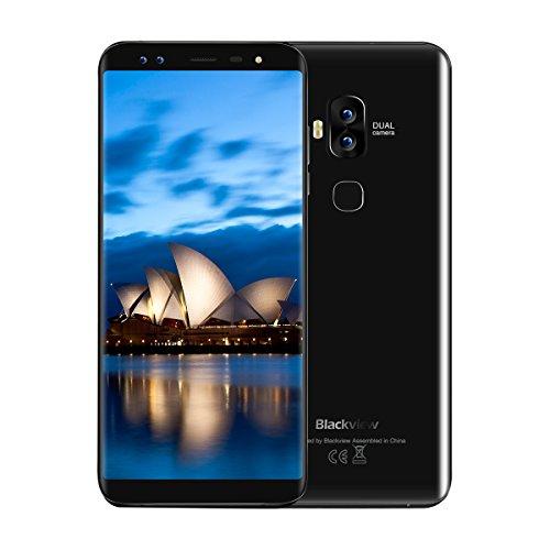 Blackview S8, Smartphone ohne Vertrag, Dual Sim 5.7 Zoll HD+ Edge Display, 4GB Ram, 64GB Speicher, Android 7.0, Octa-Core CPU, Fingerabdrucksensor
