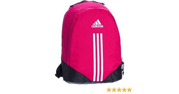 a4b489dacd adidas 3-Stripes G68767 Women s Backpack Blast Pink F13 Black White 31 x 15  x 43 cm 21 L  Amazon.co.uk  Sports   Outdoors