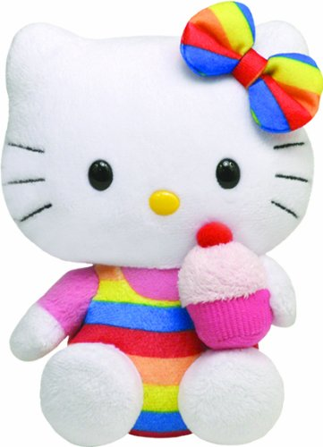 Hello Kitty - UK Cupcake Plush - TY Beanie - 15cm 6""