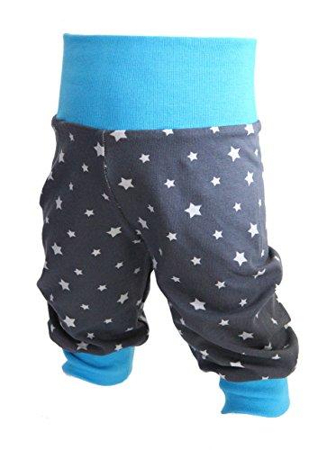 Babyhose-Pumphose-Sternchen-Jungen-Kinderhose-Jerseyhose-blau-mit-Sternen-von-Tom-Lottchen