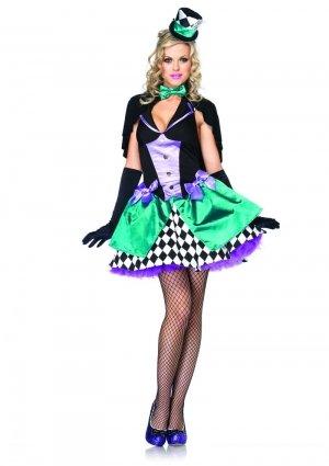 Leg Avenue Delightfully Mad Hutter Kostüm M/L, 1 Stück (Alice Im Wunderland Figur Kostüme)