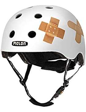 Melon Urban Active - Casco de ciclismo, color blanco