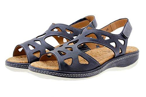 Chaussure femme confort en cuir Piesanto 1905 sandales à semelle amovible confortables amples Carbón