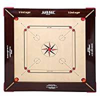 KD AAR-Kay Carrom Board Vinage Plywood Approved by Carrom Federation of India & International Carrom Federation (28 mm, Jumbo)