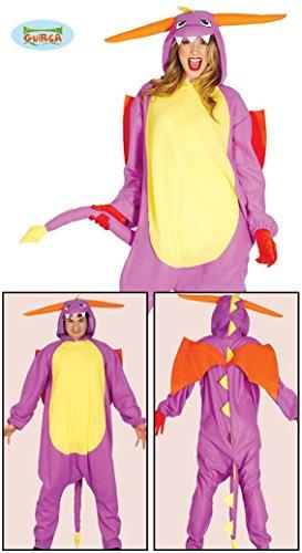 Drachen Kostüm für Erwachsene Damen Herren Overall Damenkostüm Dragon Anime Tier Cartoon Gr. M, Größe:L (Der Grüne Drache Kostüm Für Erwachsene)