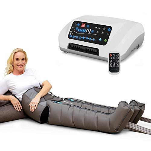 Vein Angel 8 Premium apparecchio per massaggi con fascia addominale & gambali, 8 camere d\'aria disattivabili, pressione & durata regolabili, 6 programmi, no pressoterapia
