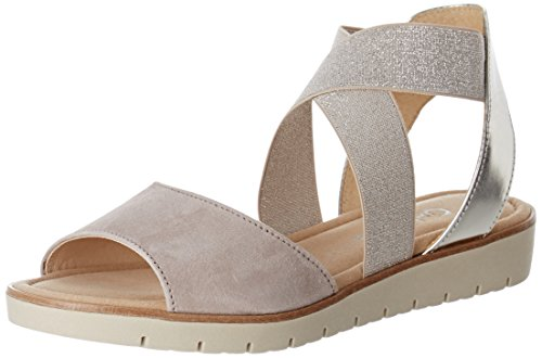 Gabor Shoes Fashion, Sandales Bout Ouvert Femme Rose (puder/nude 13)
