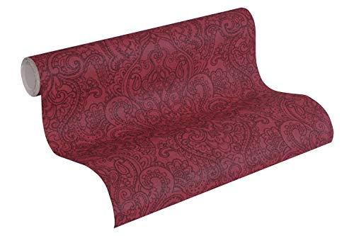 A.S. Création Vliestapete Boho Love Tapete mit Paisley Muster 10,05 m x 0,53 m rot schwarz Made in Germany 364584 36458-4 -