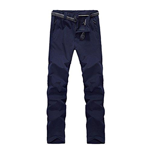 Qweas All'aperto Uomini D'autunno Sezione Sottile Punch Pantaloni Pantaloni Da Escursione Pantaloni Sportivi Pantaloni Di Rapida Asciugatura Dry Sweat Wind And Warm Riding SapphireBlue