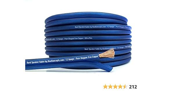 Knukonceptz Kord Kable 12 Gauge Copper Speaker Wire 30m Elektronik
