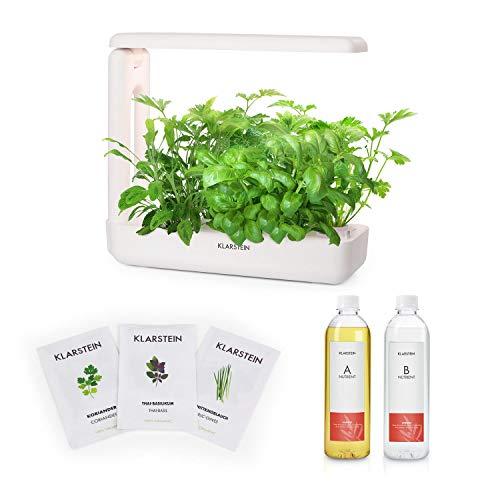 Klarstein GrowIt Cuisine Starter Kit Asia Smart Indoor Garden • 12 Stecklinge • Wassertank: 2 Liter • 25 W LED-Beleuchtung • 18-teiliges Komplettpaket • inkl. Nutri-Kit 300 Nährlösung & Asia-Seeds