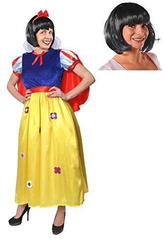 eewittchen KOSTÜM VERKLEIDUNG MIT SCHWARZER BOB PERÜCKE Halloween Fasching Karneval MÄRCHEN =MEDIUM ()