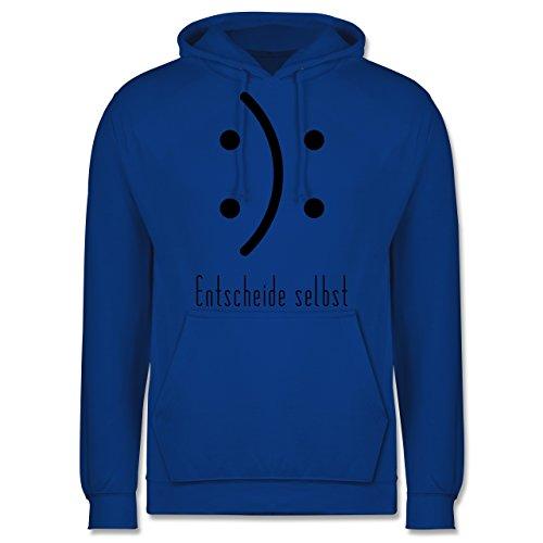 Symbole - Entscheide selbst Smile - Männer Premium Kapuzenpullover / Hoodie Royalblau
