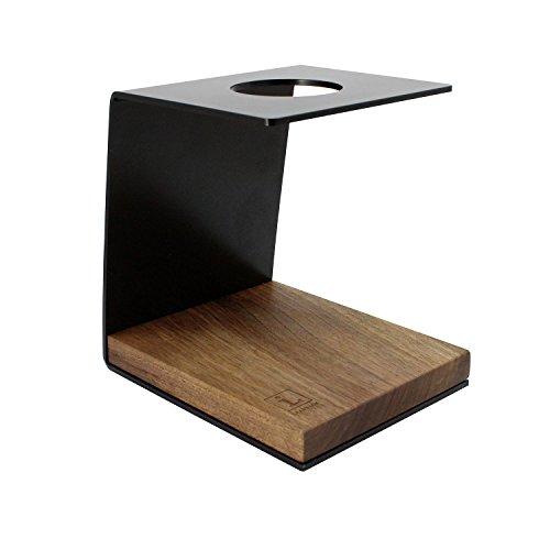 Drip Stand (Pour Over Coffee Stand von Leanback Industries aus Holz und Stahl – schicker Kaffeebereiter zum Aufbrühen von Kaffee, geeignet für Permanent-Kaffee-Filter von Hario oder Melitta (Kirschbaum - Schwarz, ohne Kaffeefilter))