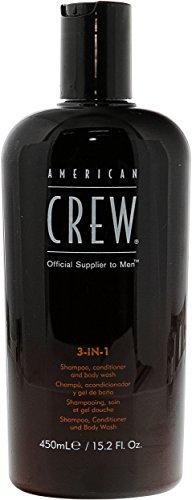 American Crew–3en 1Champú, Conditioner & Body Wash Champú, Conditioner & Body Wash–450ml