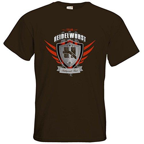 getshirts - Heidelwurst - T-Shirt - Team Heidelwurst Chocolate