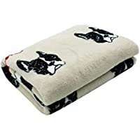 Scheppend mantas para mascotas Soft Warm Fleece Mantas lavables para perros perros Cats, Bulldog