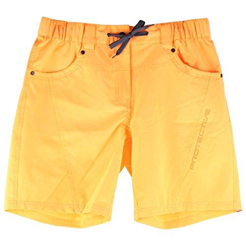 Protective Colima Damen Baggy Shorts Kurz Mountain Bike Fahrrad Taschen Atmungsaktiv, 215019, Farbe Orange, Größe 38