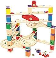 Hape Quadrilla Wooden Marble Run Construction - Vertigo - Quality Time Playing Together Wooden Safe Play - Sma