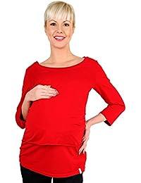 Be! Mama Stillshirt, Stilltop, SchwangerschaftsShirt , Modell: MAYCI - lang- oder kurzärmlig!