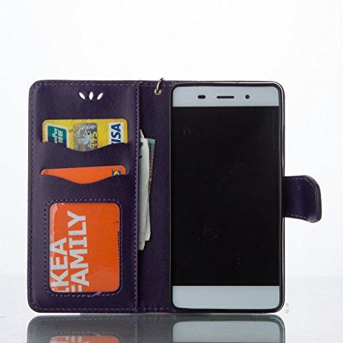 Custodia per iPhone 5, iPhone 5S, iPhone SE Custodia, con protezione per lo schermo in vetro temperato] antigraffio, fatcatparadise (TM) Custodia posteriore in silicone morbido, elegante vintage premu Purple