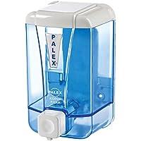 Palex Dispensador de Jabón de Espuma, Montaje en Pared, Color Azul Transparente