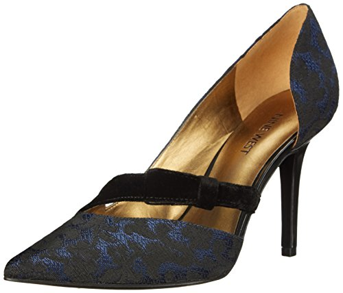 Pump Nine Dress Fabric Ouest Janice Blue/Black/Black