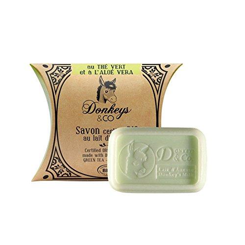 Seife Bio 100g Tee grün–Aloe Vera (Bio-Eselsmilch) (Seife Grundlagen)