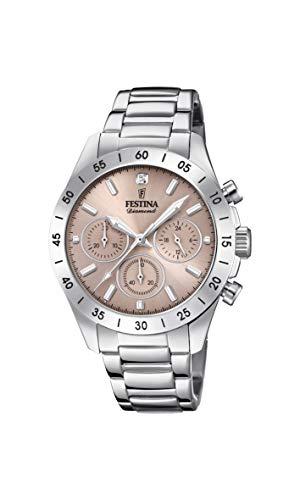 Festina Damen Chronograph Quarz Uhr mit Edelstahl Armband F20397/3 - Festina Uhren
