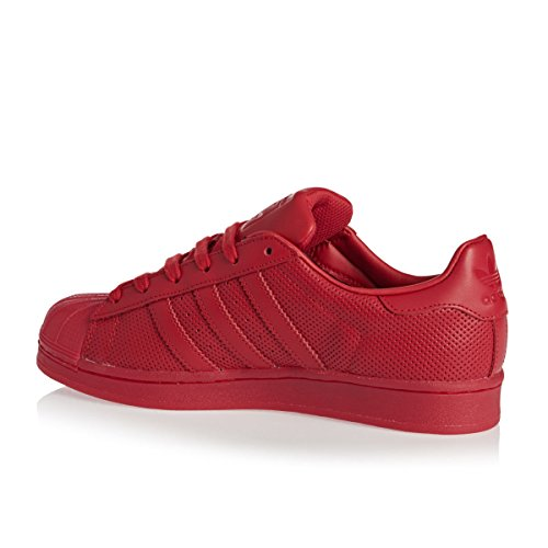 adidas Superstar, Baskets Basses Mixte Enfant Rouge
