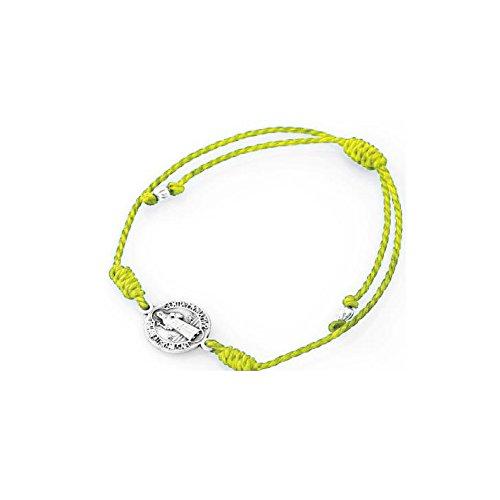 bracciale-unisex-amen-in-spago-cotone-regolabile-medaglia-san-benedetto-giallo