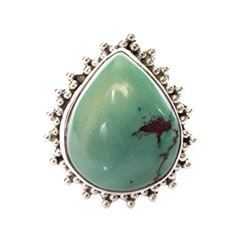 VERO ANELLO pietra preziosa del turchese per le donne e gli uomini di moda UNISEX (Rame Pietra Preziosa Del Turchese)