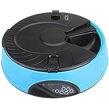 Hrph 6 Comidas Comedero de Mascotas Automática Digital LCD alimentador automático de los Mascotas Grabadora tazón de comidas dispensador