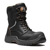 V12 Avenger, Zip Side Hi-Leg Scuff Cap Boot, Size 09, Black